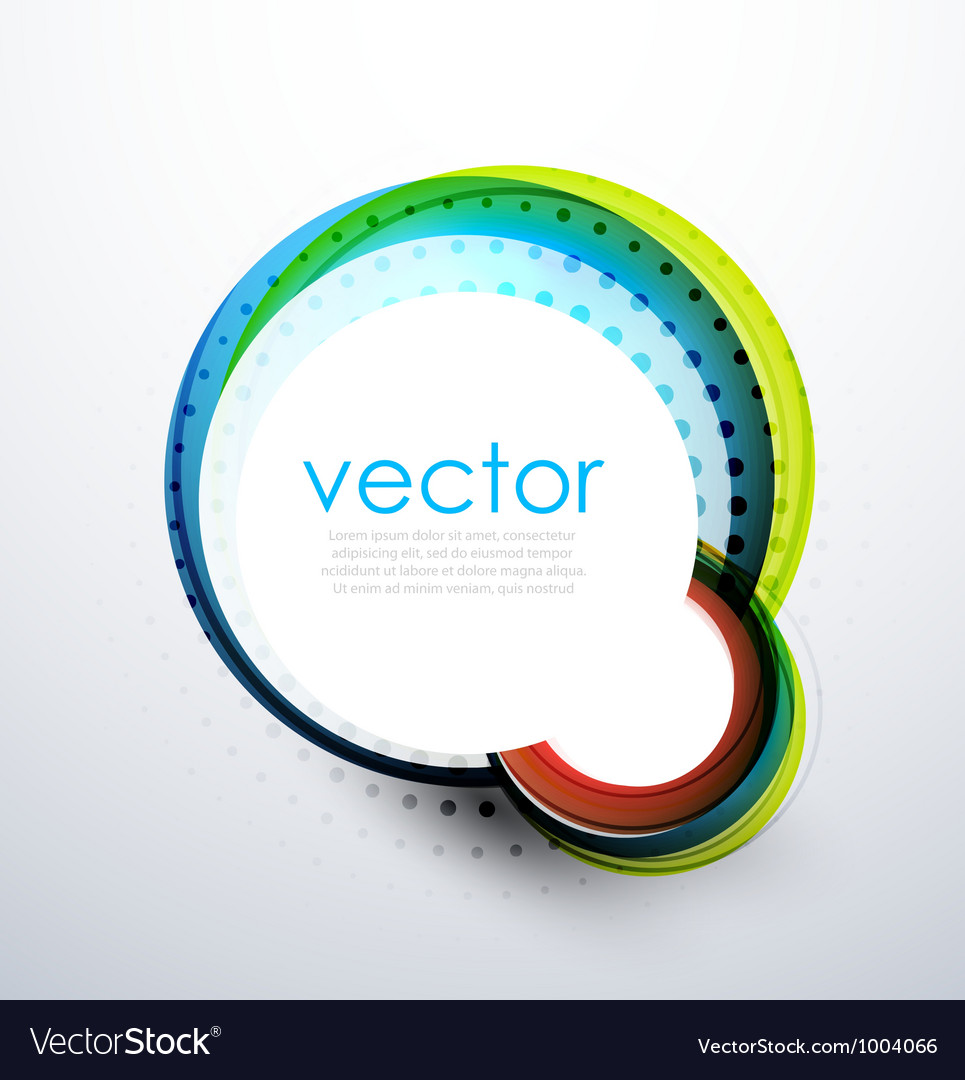 Abstract swirl circle banner vector