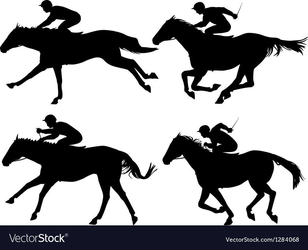 Racing horses vector