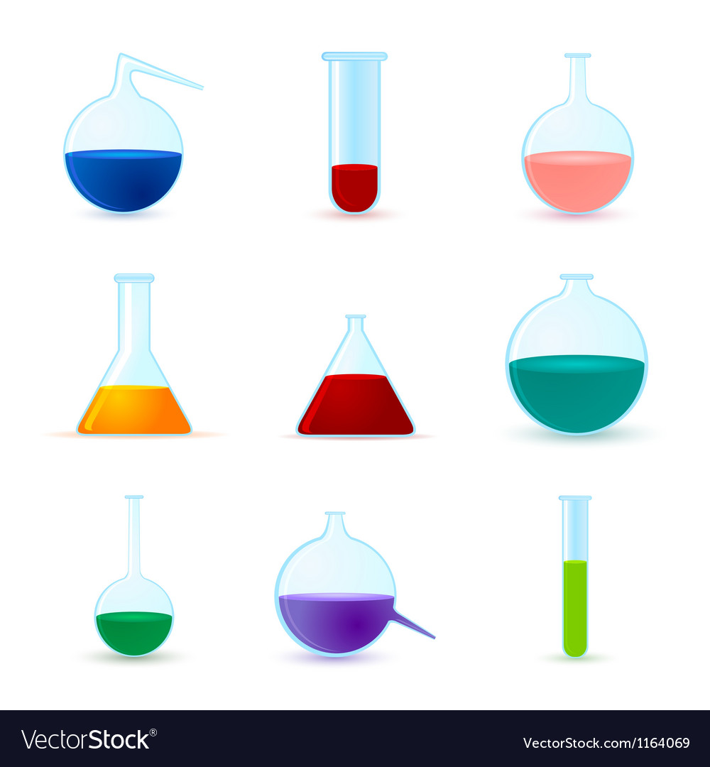 Set of chemical icons vector