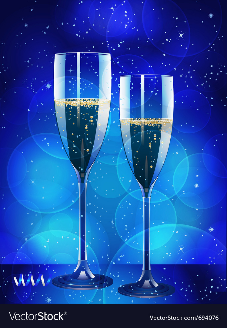 Champagne flutes vector