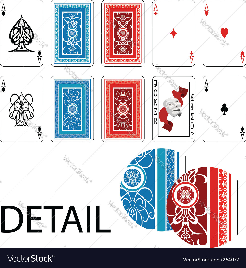 Aces joker playing cards vector