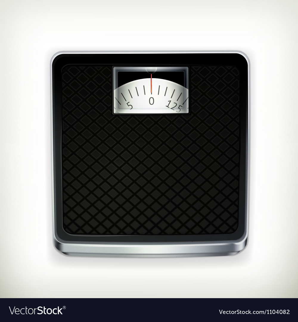 Bathroom scale vector