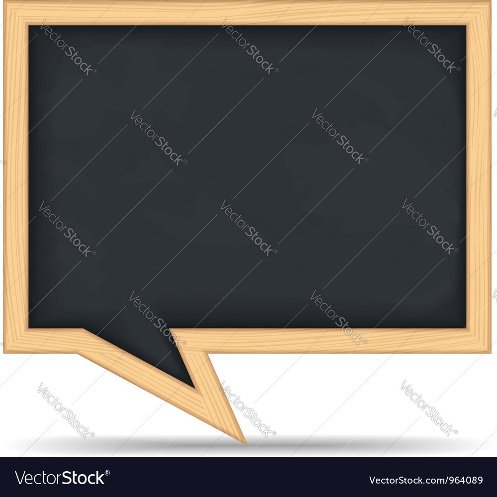 Blackboard speech bubble vector