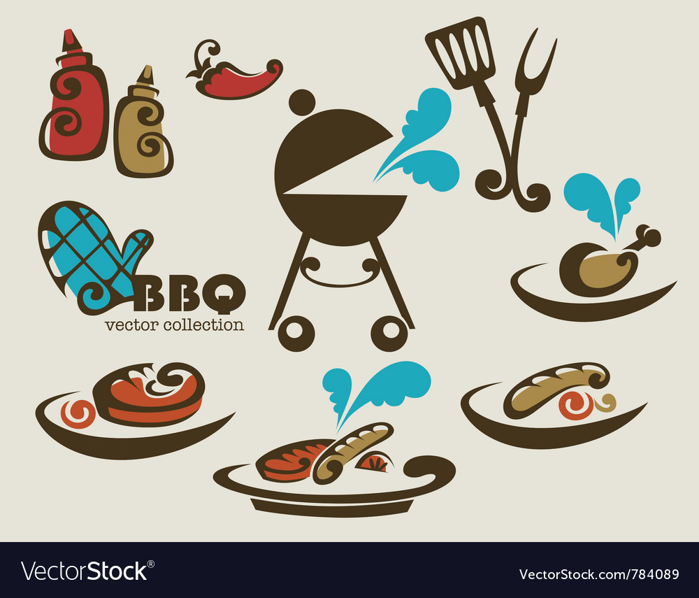 Traditional american barbeque vector