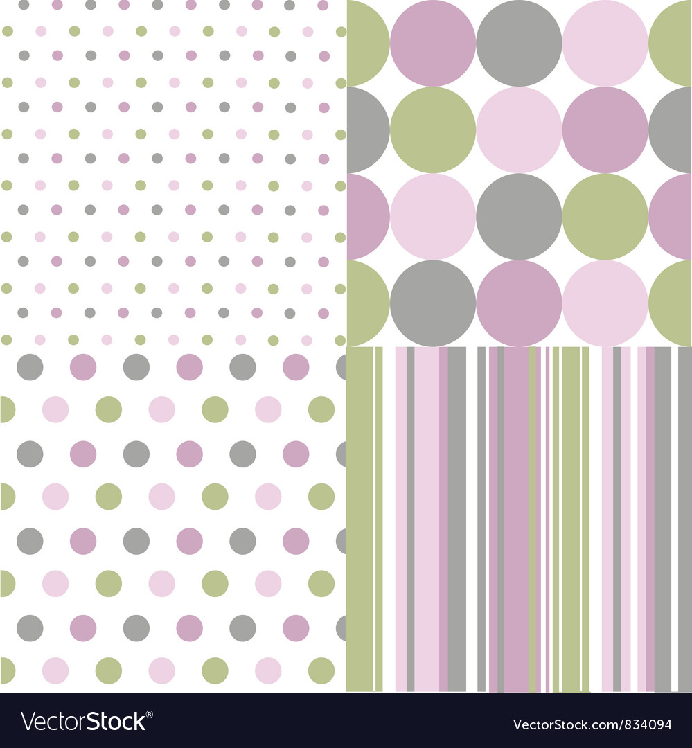 Seamless patterns polka dots vector