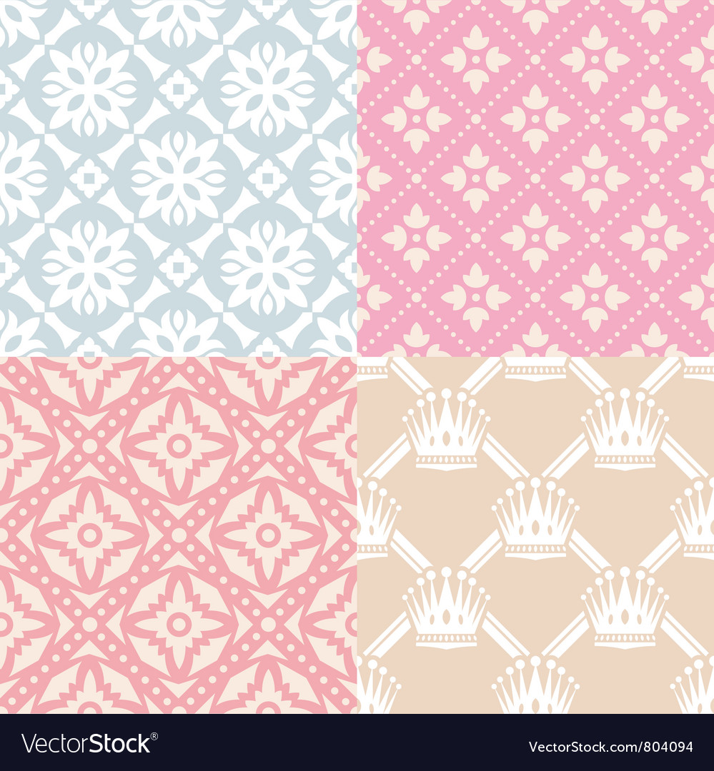 Set of seamless backgrounds vector
