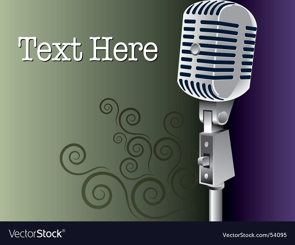 Grunge microphone vector