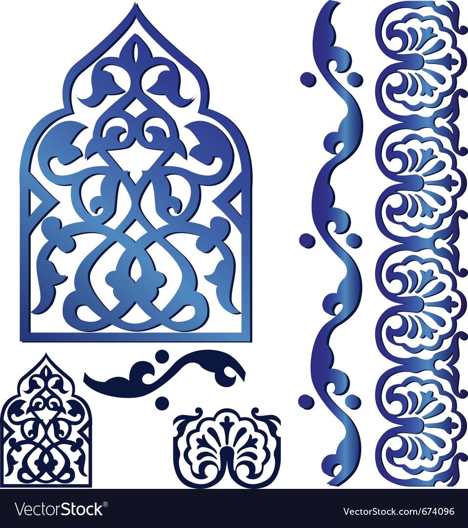 Islamic design elements vector