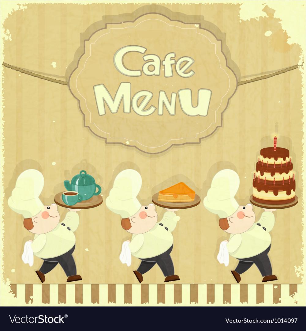 Cafe menu card in retro style vector