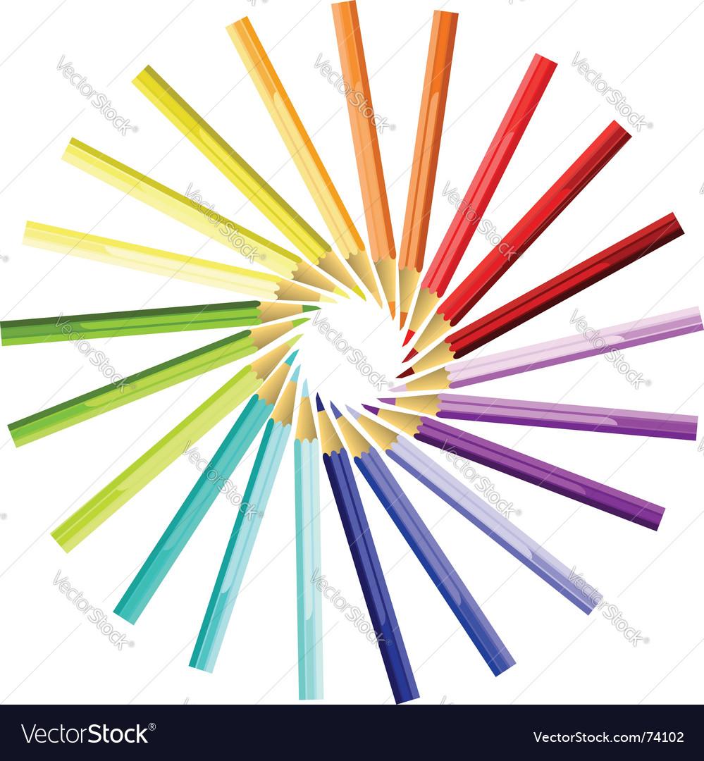 Coloured pencils sun vector