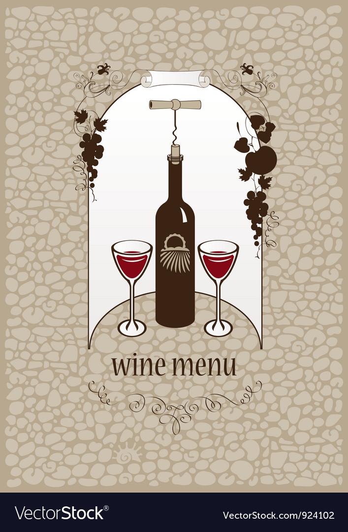 Wine stone vector