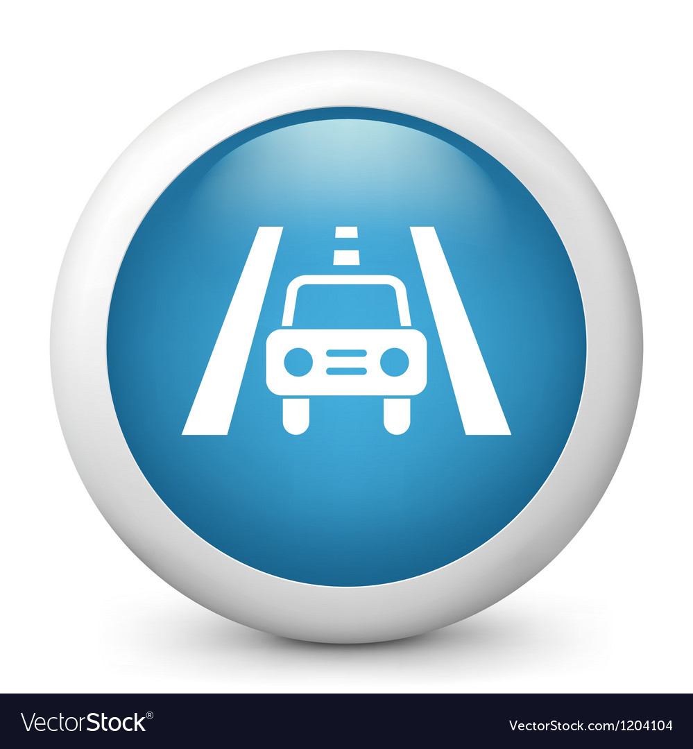 Traffic glossy icon vector