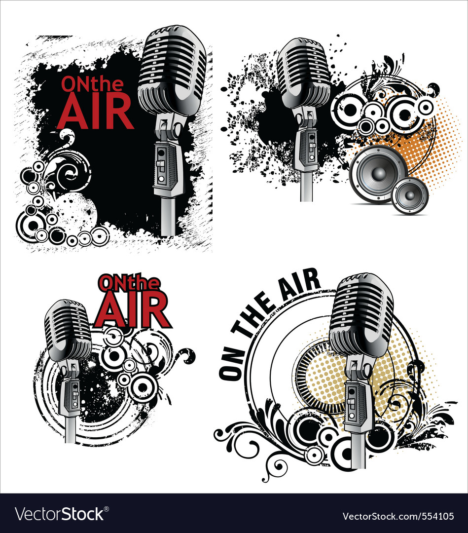 Grunge mic vector