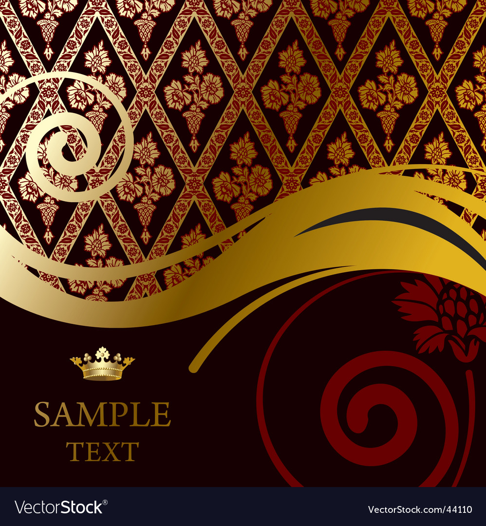Baroque background vector