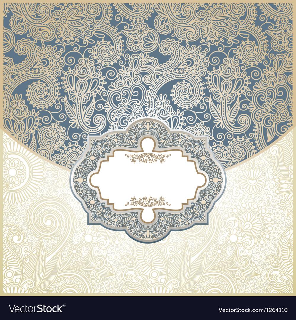 Ornate floral vintage template vector
