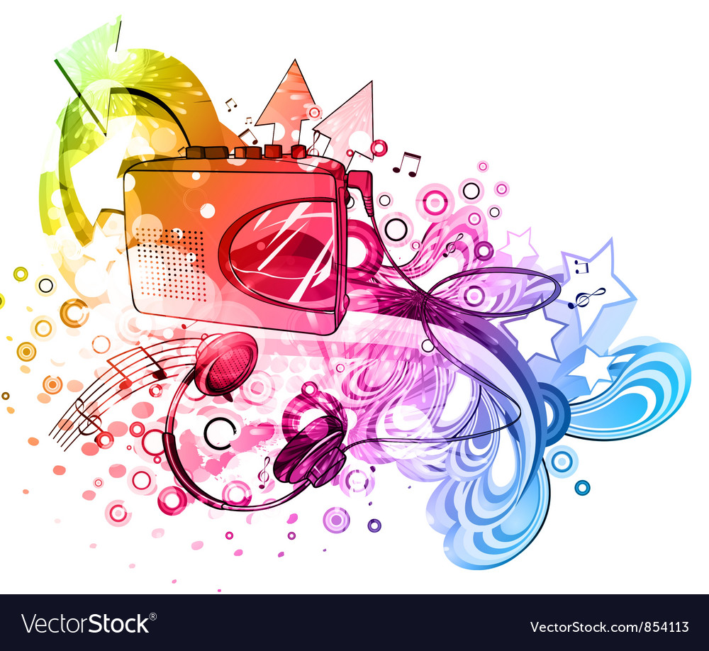 Colorful music poster vector