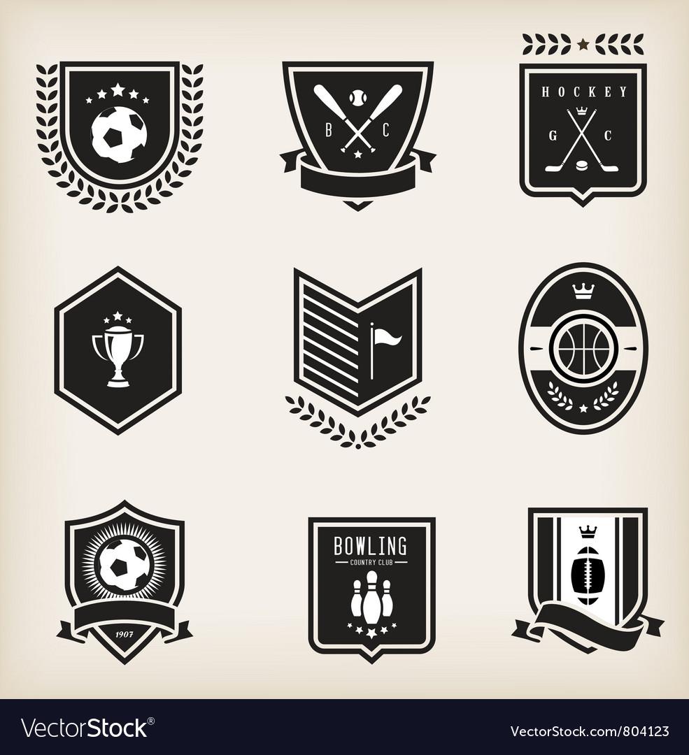 Sport emblems vector