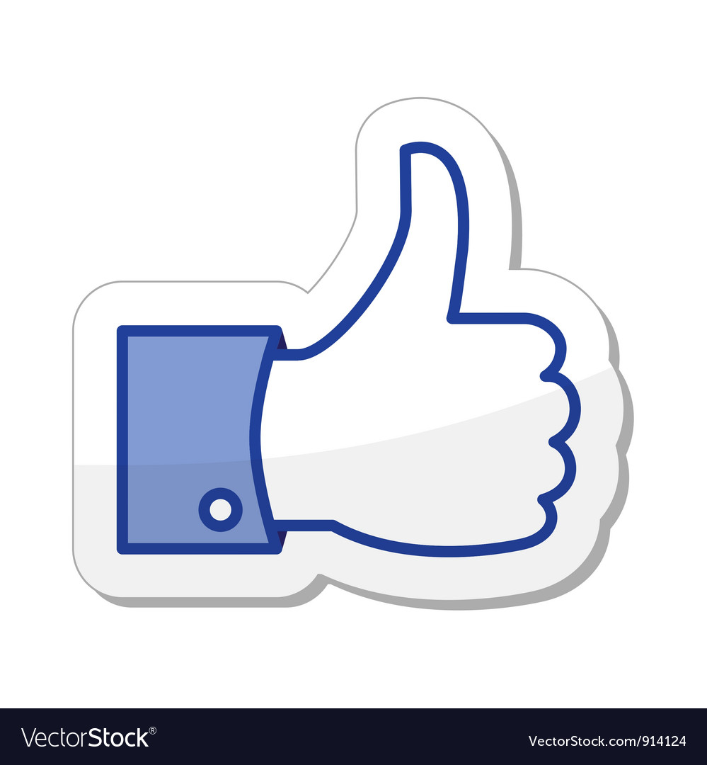 Facebook like it  thumb up vector