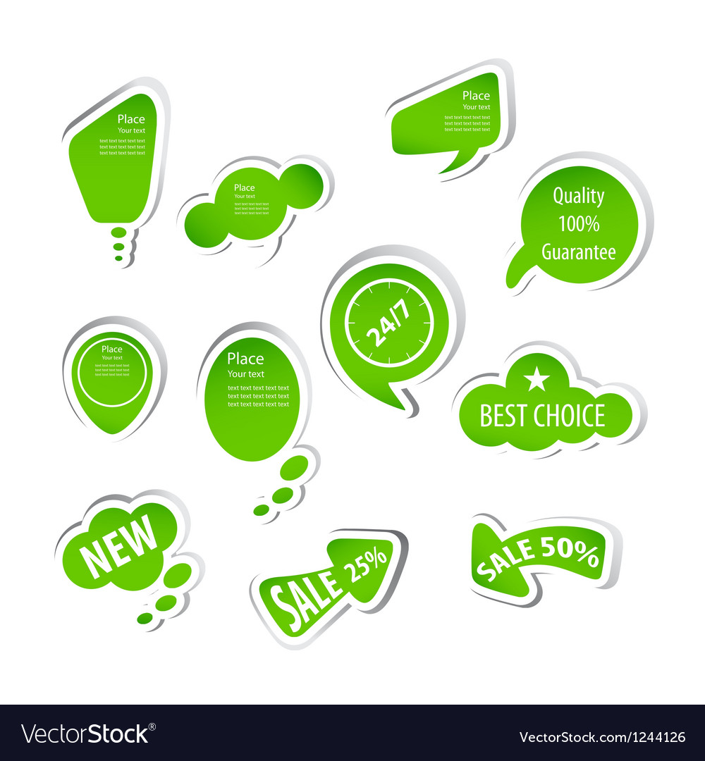 Eco green labels collection vector