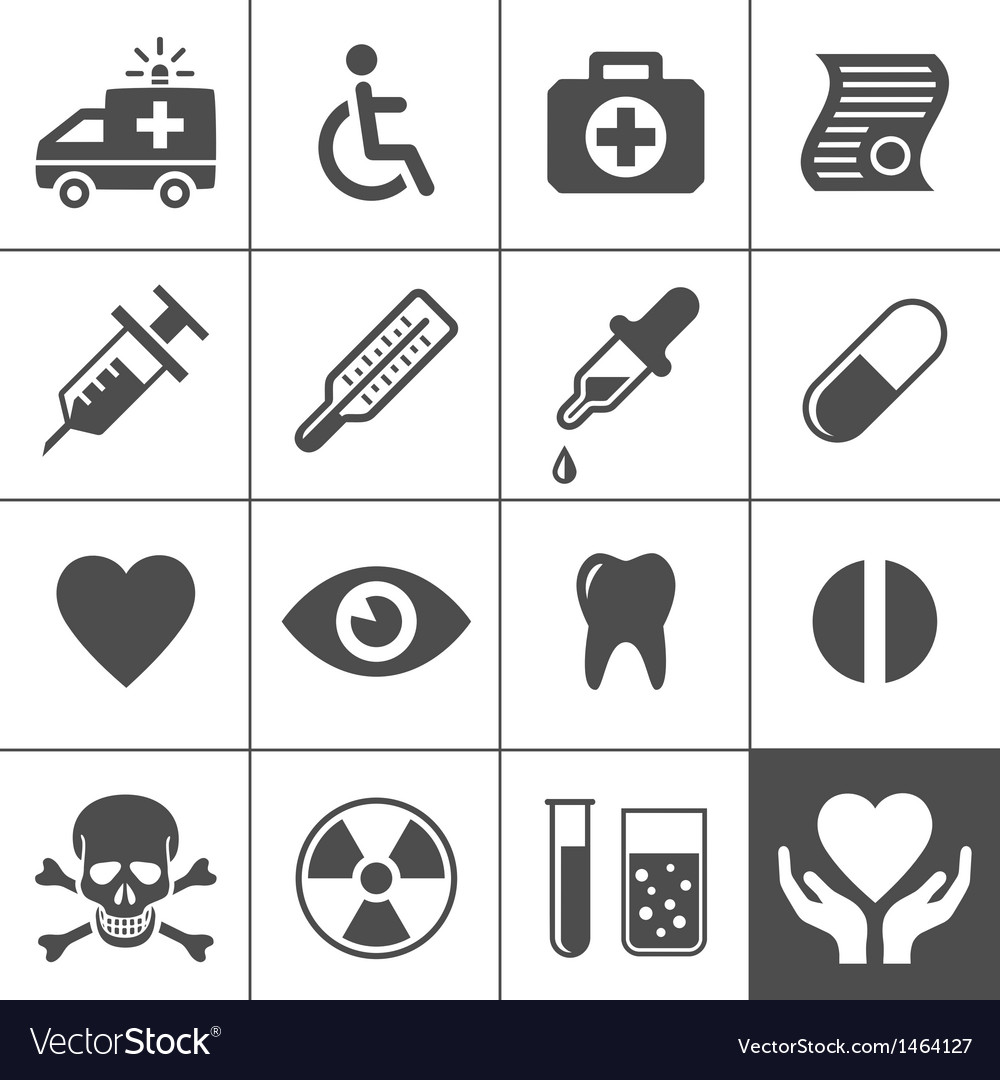 Medical and health icon set vector
