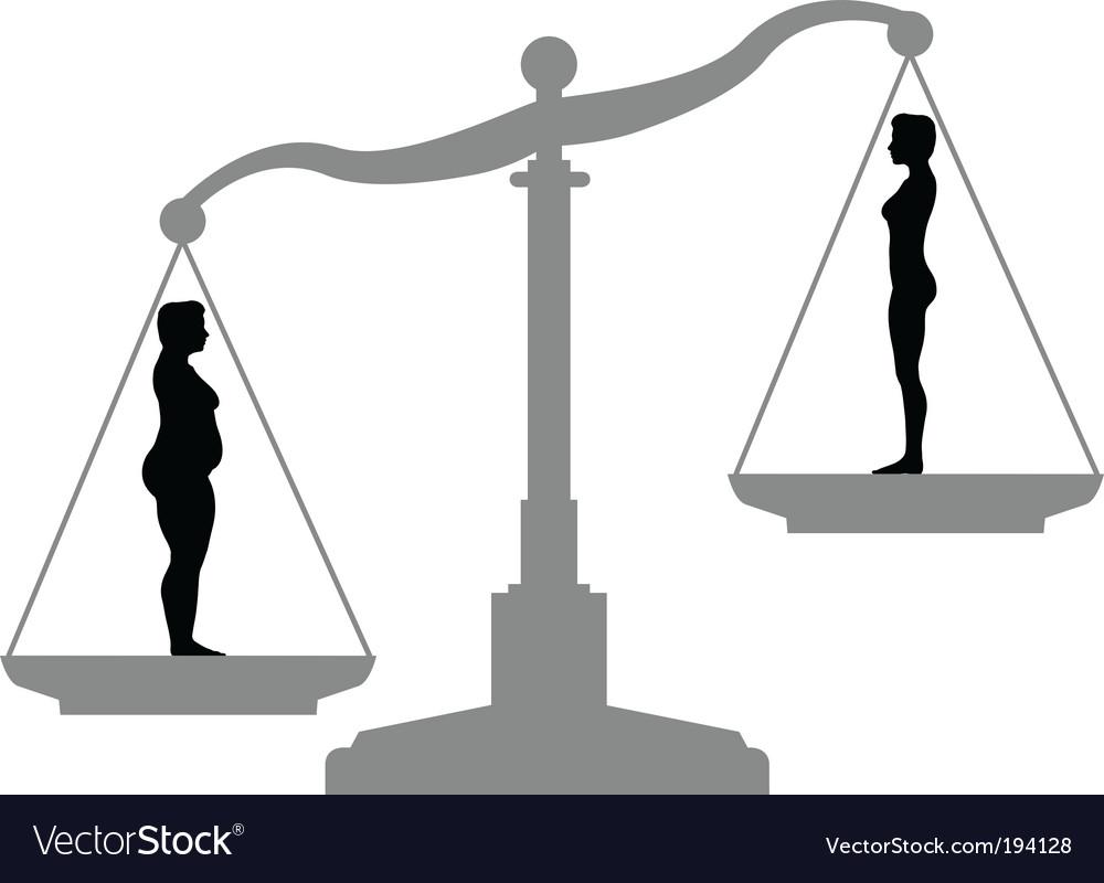 Weight loss symbols vector