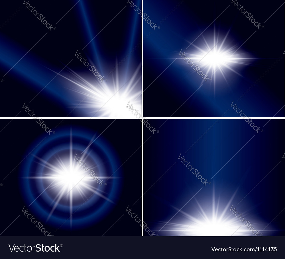 Abstract backgrounds with flash for design - set vector