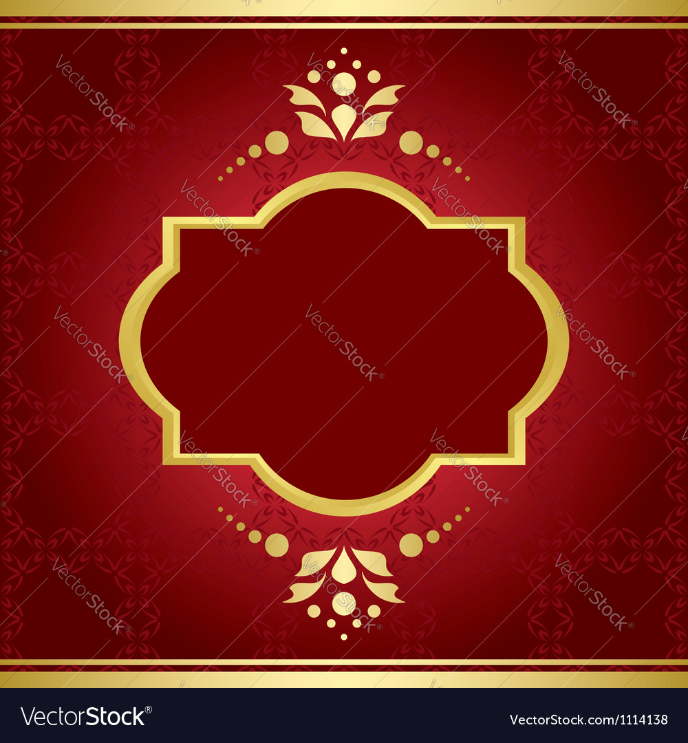Elegant card with golden decor vector