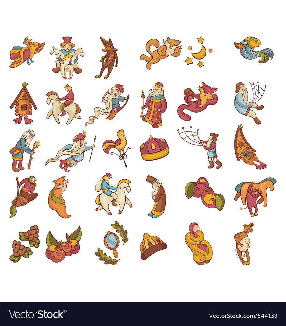 Set of fairytale characters vector art - Download Costume vectors ...