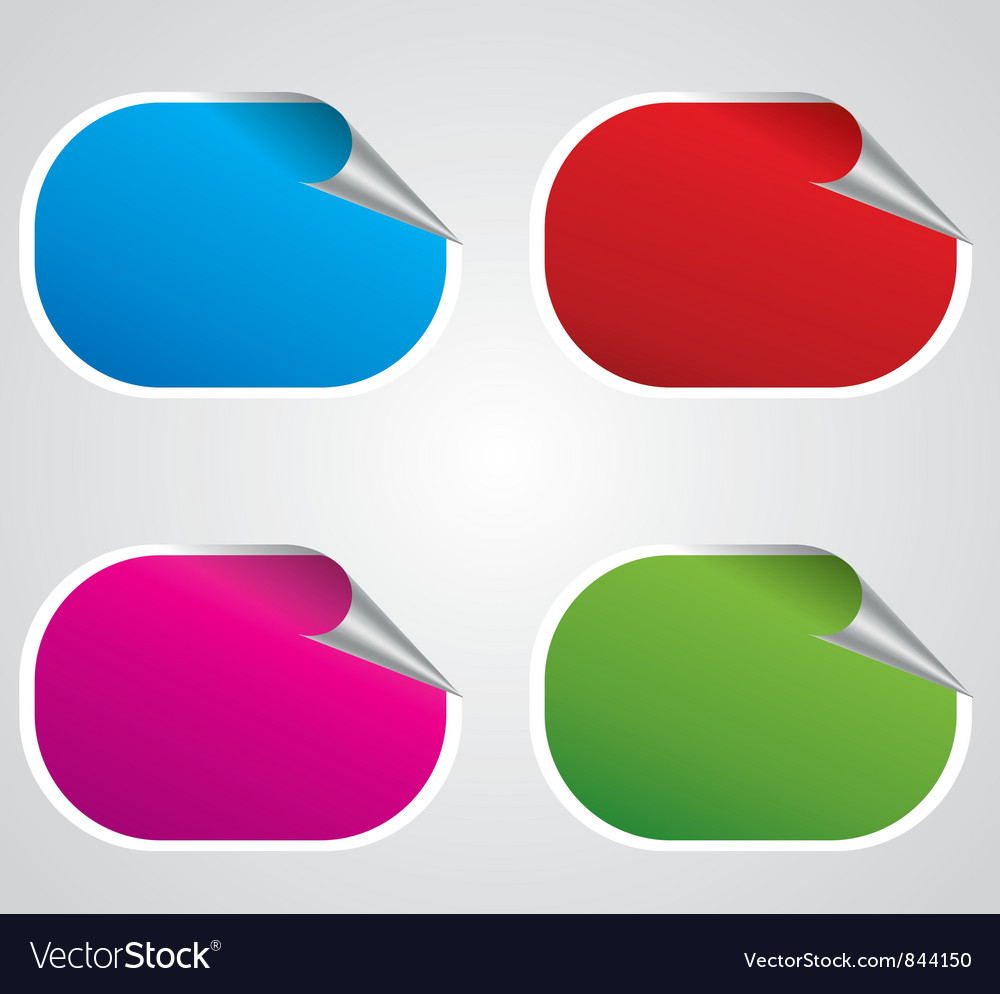 Stickers set vector
