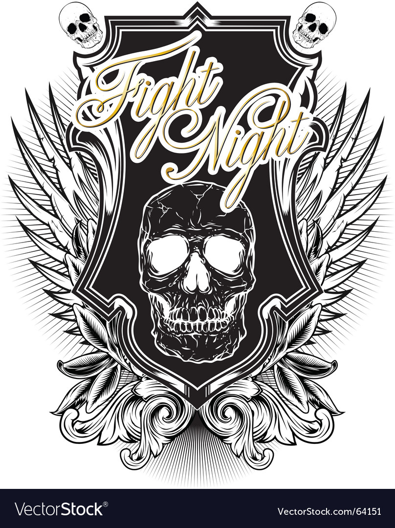 Fight night vector