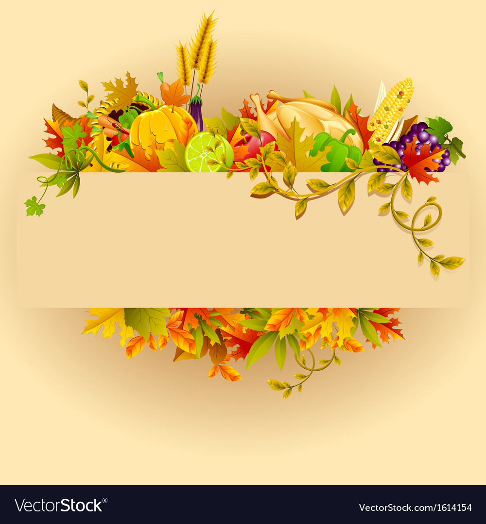 Thanksgiving celebration vector