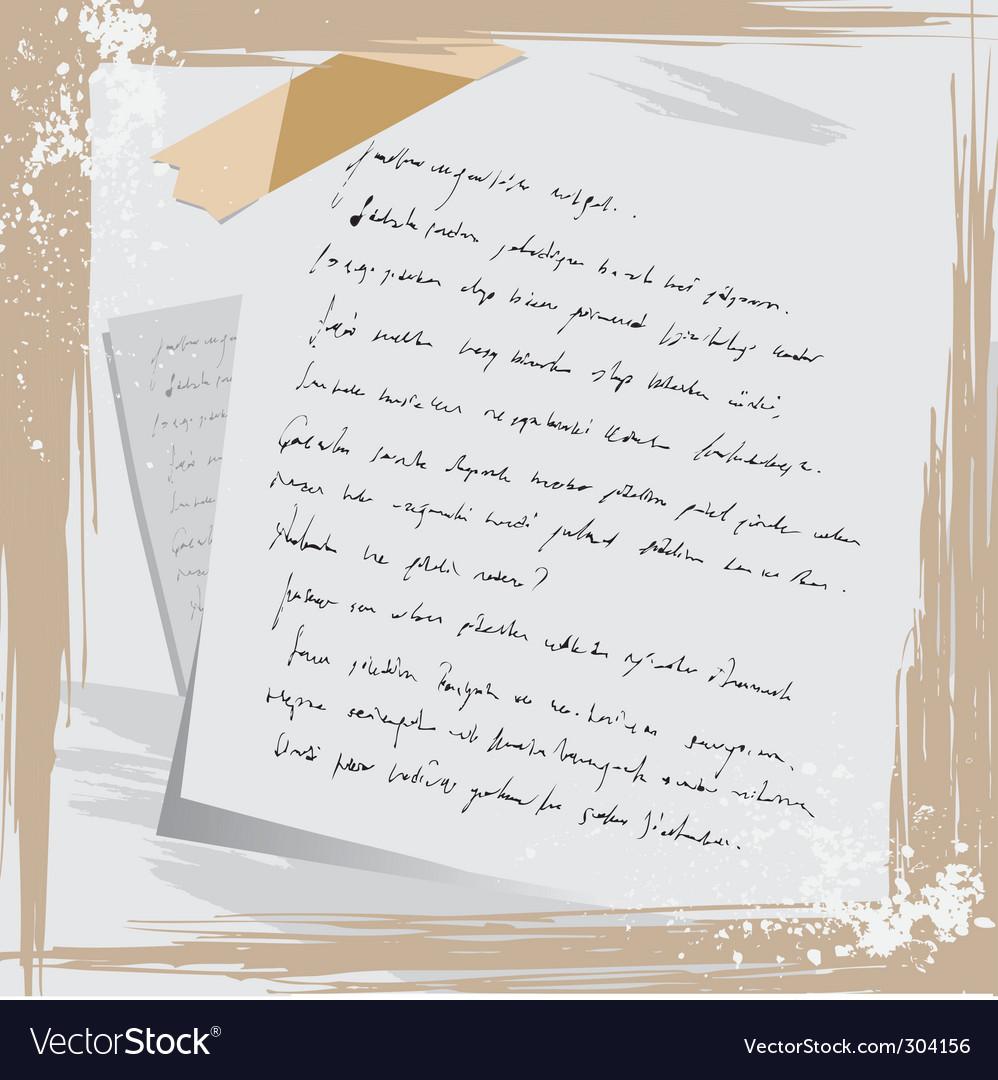 Grunge letter vector