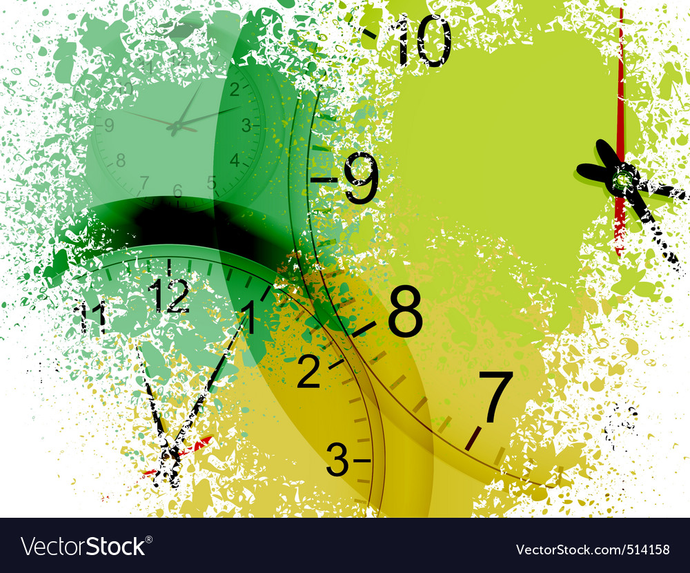 Grunge clocks vector
