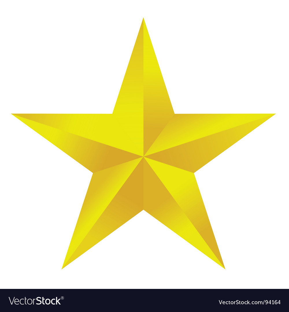 Golden star vector