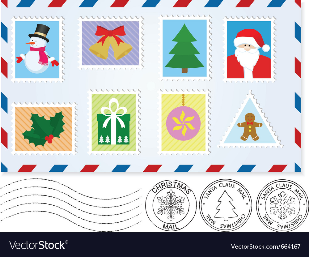 Letter to santa claus vector by takra - Image #664167 - VectorStock