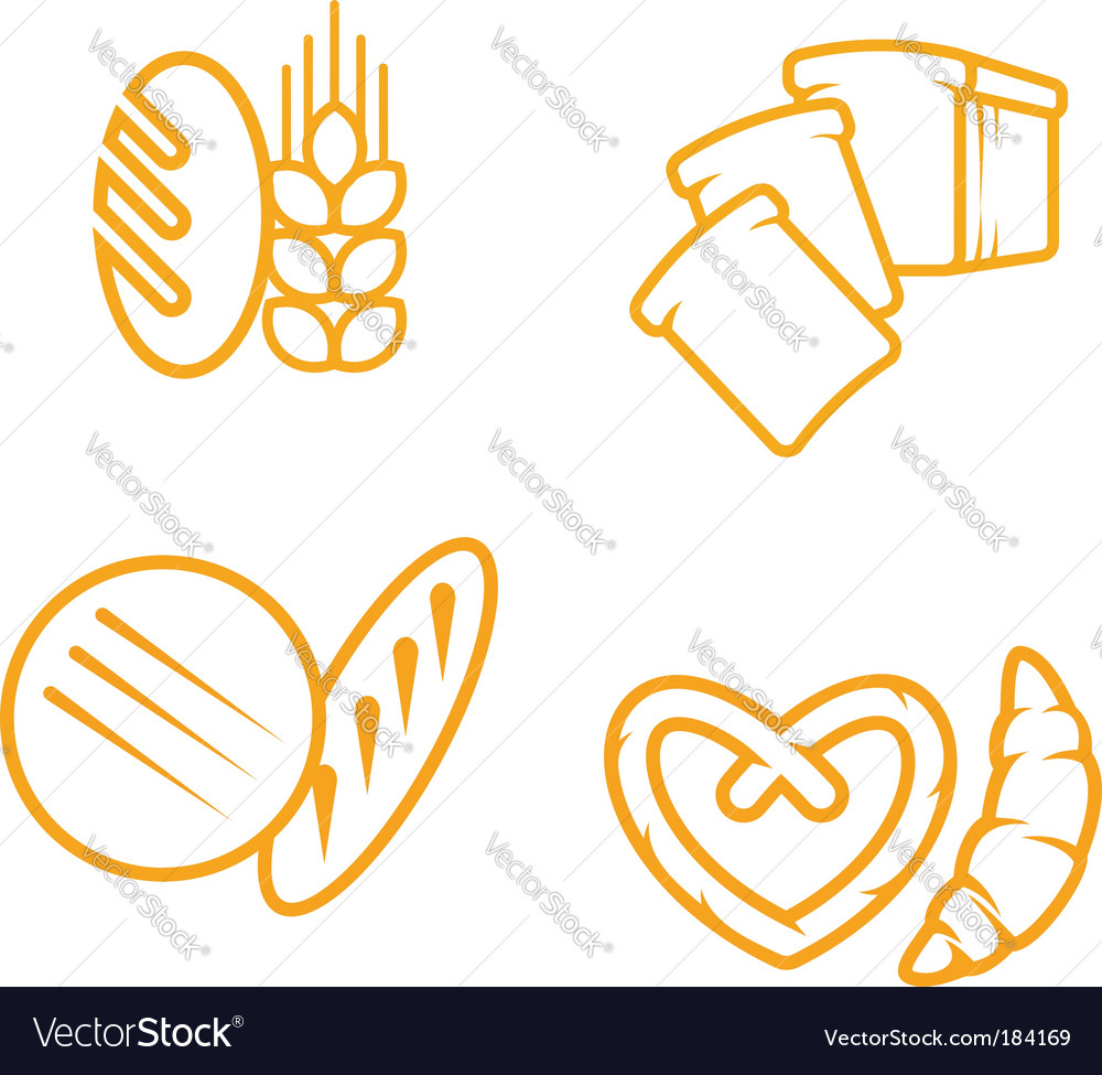 Bread symbols vector