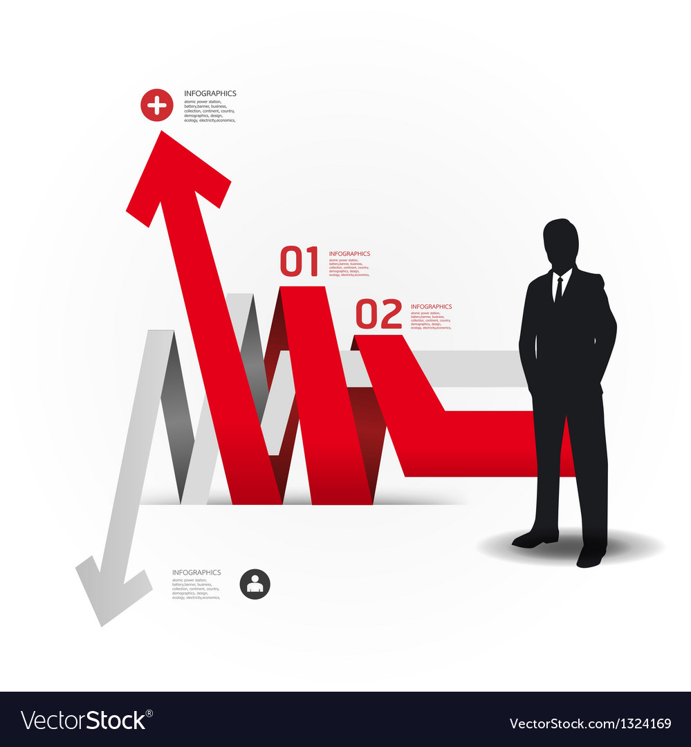 Modern design template with business man vector