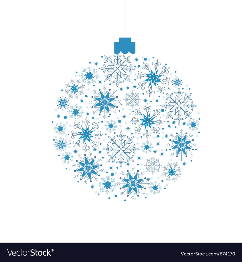 Christmas background ball vector