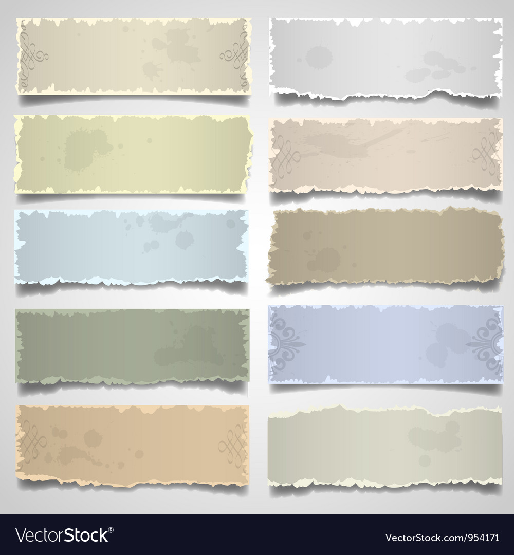 Old note paper in pastel colors vector