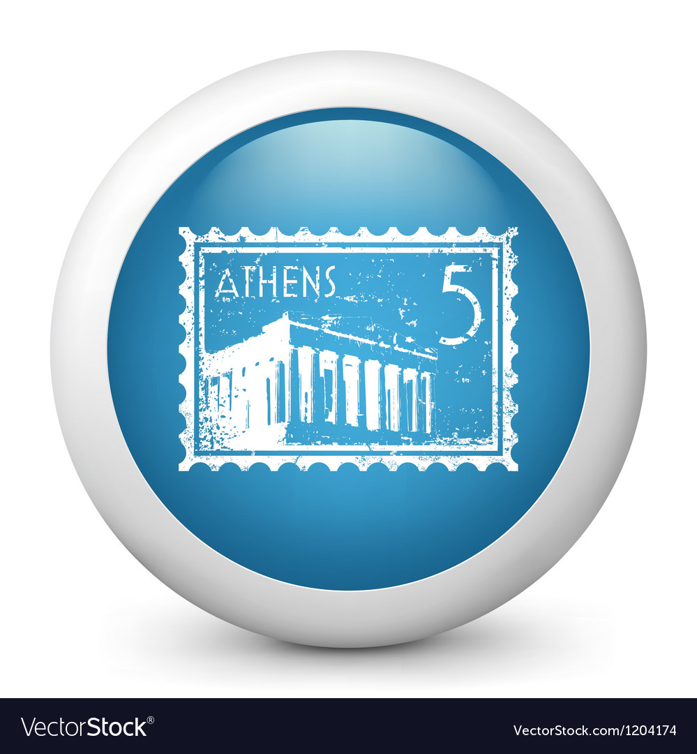 Athens postage stamp vector
