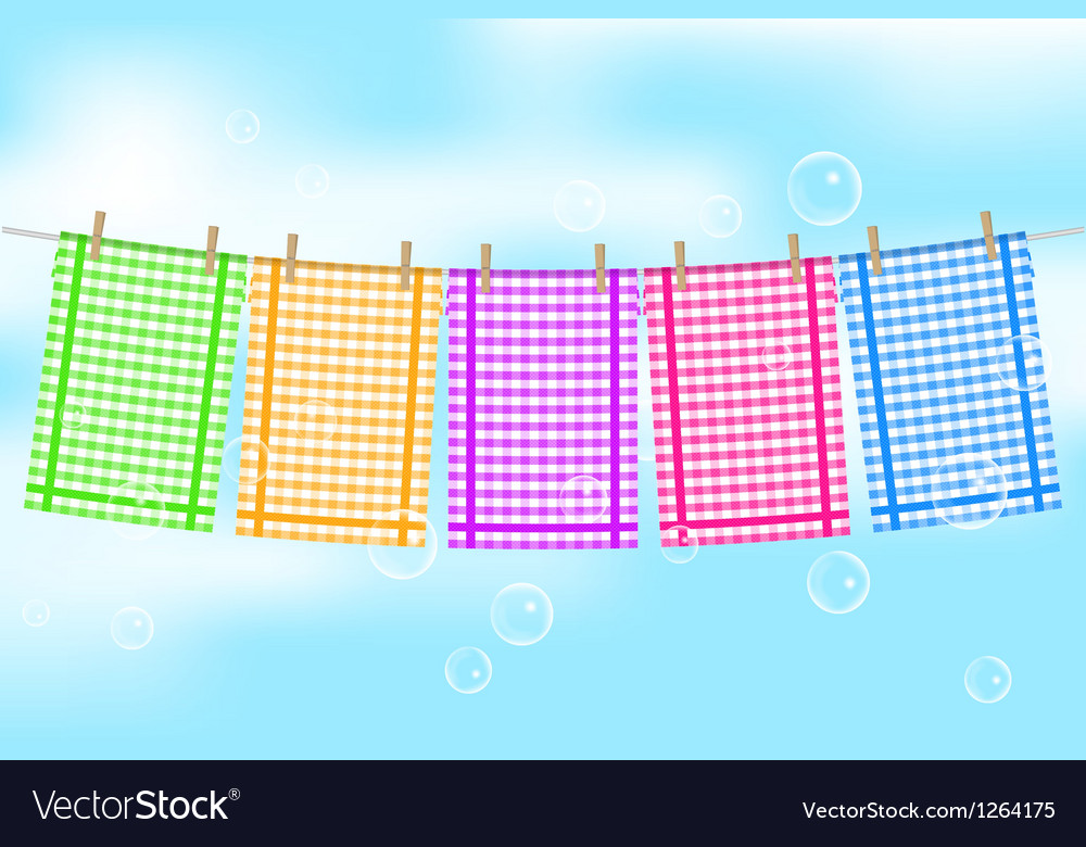 Colorful towels vector