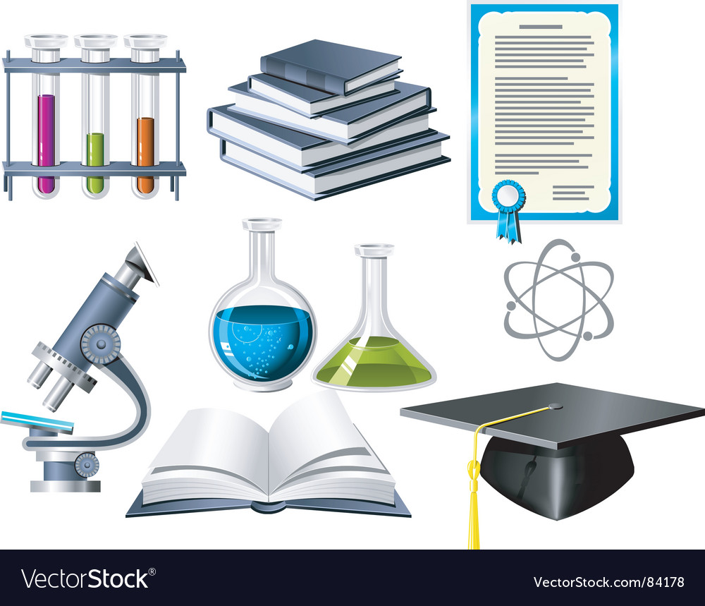 Science and education icons vector