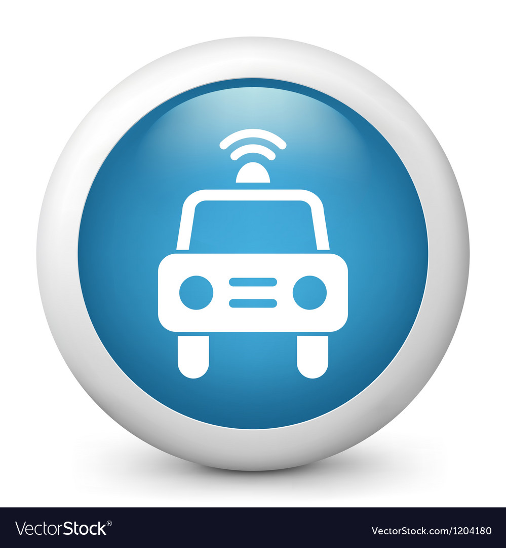 Taxi glossy icon vector