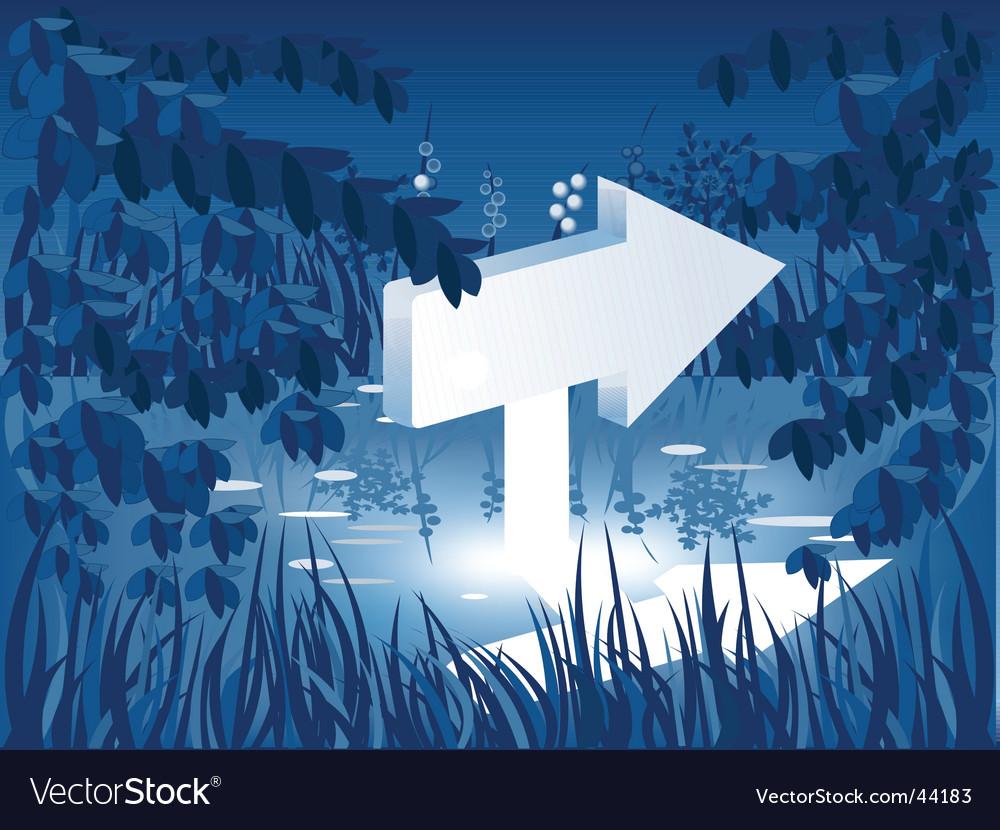 Arrow in pond vector
