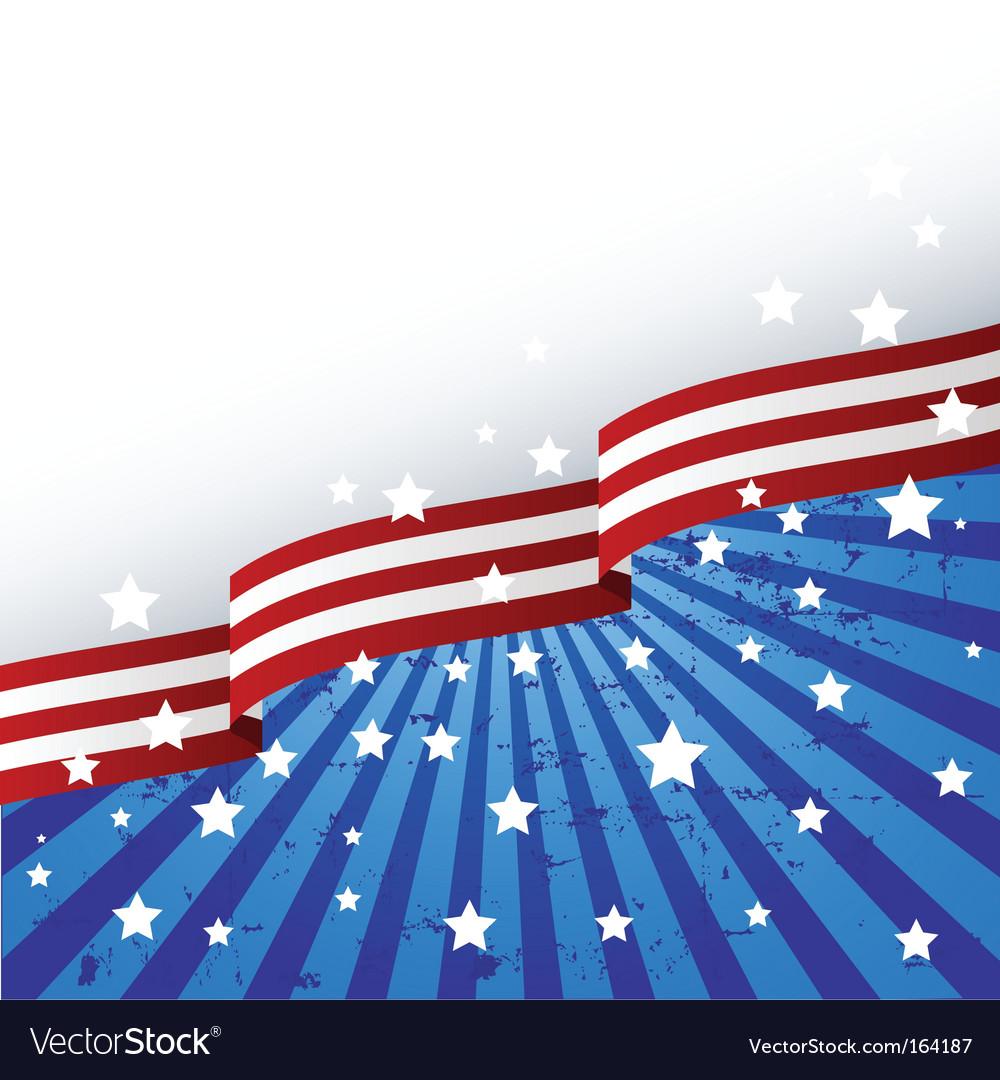 Usa flag theme vector