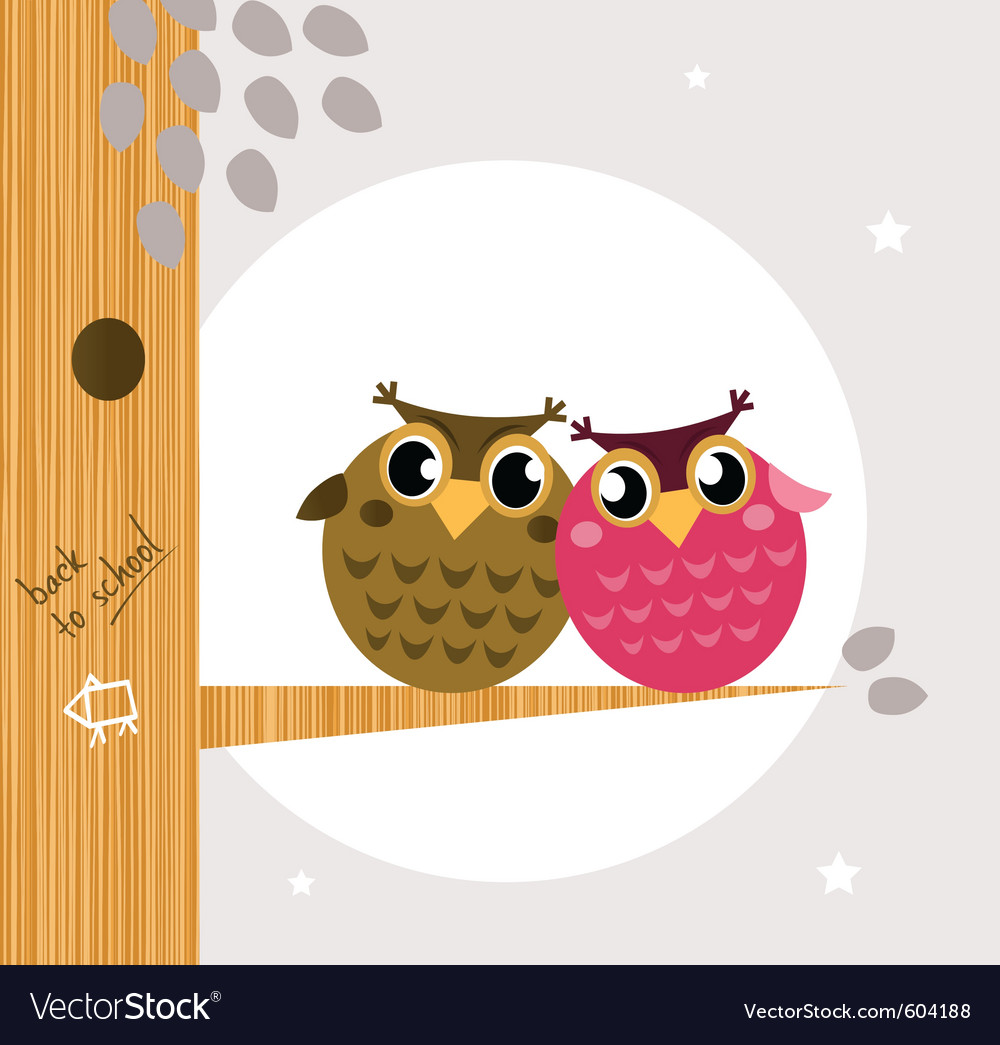 Owl friends vector