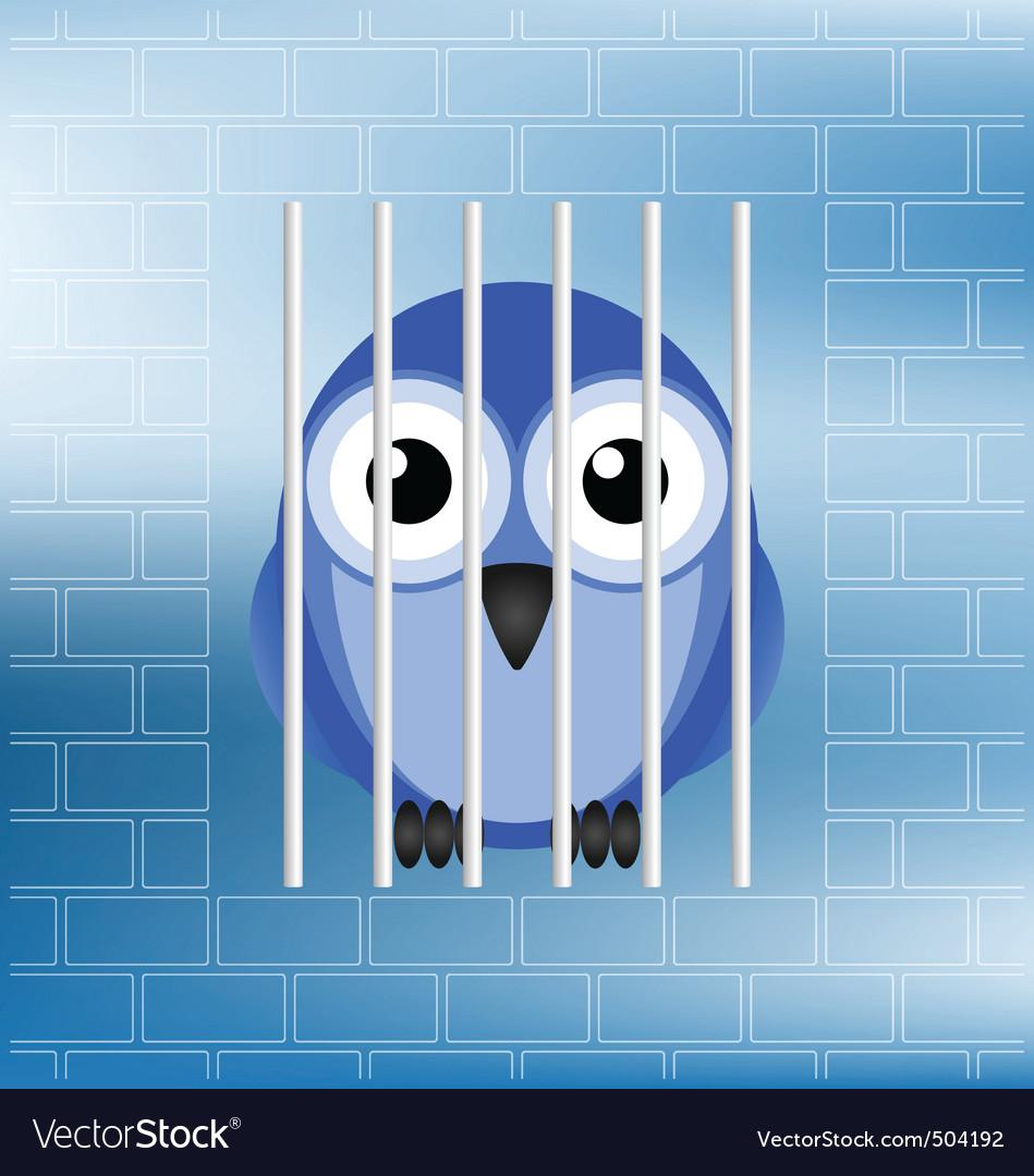 Bird jailbird vector