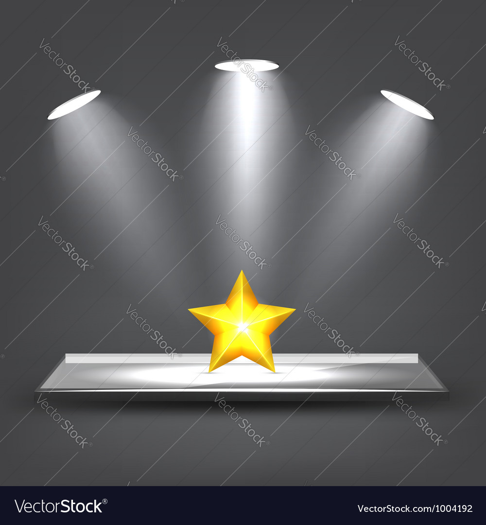 Glass shelf vector