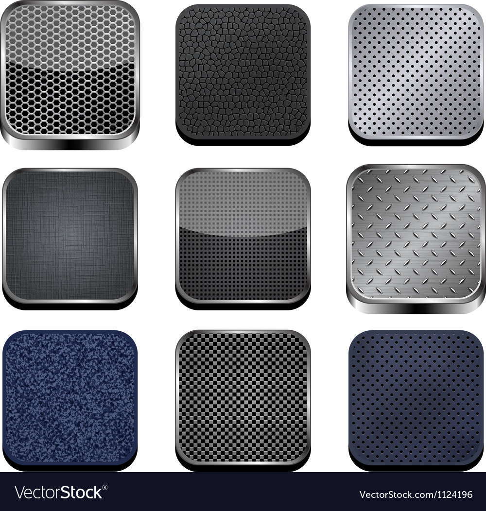 Textured apps vector