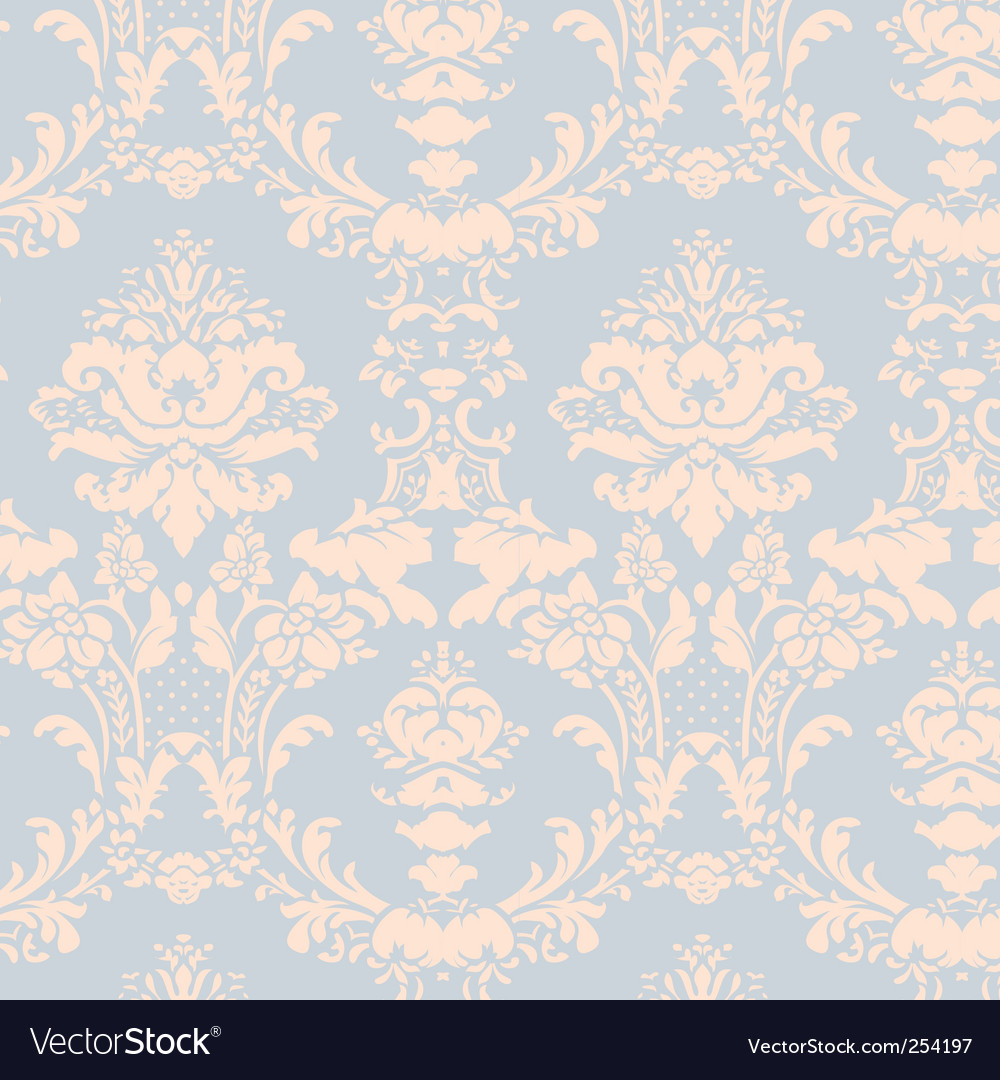 Vintage damask wallpaper vector
